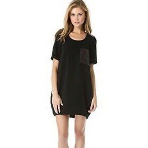 NWT Rag & Bone Crepe Dress w/ Leather Pocket